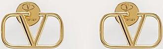 Valentino Garavani Valentino Garavani Vlogo Signature Metal Earrings Women Gold Brass 100% OneSize