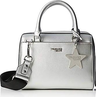 a3b7775b1e Trussardi T-Easy Bauletto Chram Star Logo, Borsa a Mano Donna, Argento,