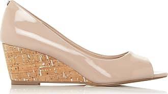 Dune London Dune Ladies Womens Cayden XX Peep Toe Wedge Sandals Size UK 7 Nude Wedge Heel Wedges