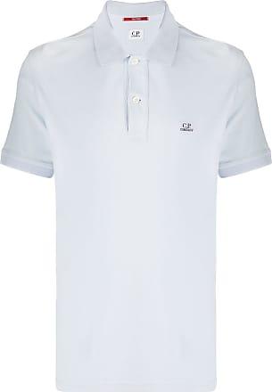 C.P. Company Camisa polo com logo bordado - Azul