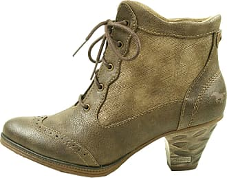 5bc02b750a48 Mustang Lace Up Ankle Boot Cigar Womens Ankle Boots Coffee - 41 EU