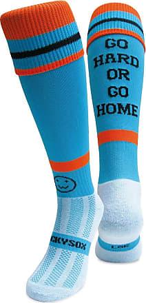 WackySox Three Pairs Supersaver Rainbow Blues Calf Sports Socks