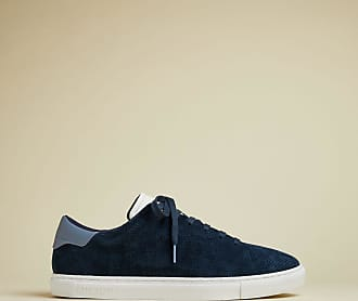 Ted Baker Suede Casual Trainers in Navy RUENNER, Mens Accessories