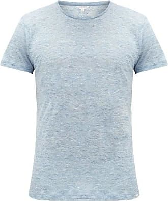 Orlebar Brown Ob-t Slubbed-linen T-shirt - Mens - Light Blue
