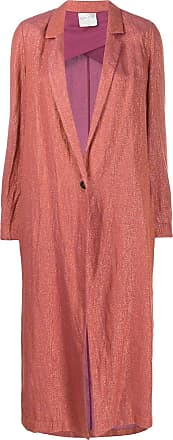 Forte_Forte single-breasted woven coat - ORANGE