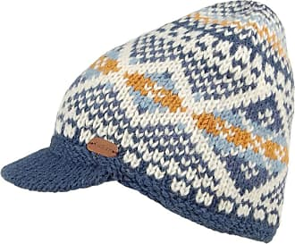KuSan Hats Cable Knit Peaked Beanie Hat - Caramel 1-Size Blue