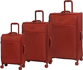 IT Luggage Lustrous Expandable Lightweight 3 Piece Set, Red Orange