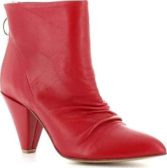 Generico Generic Made in Italy Elegant Leather Boot - Red Red Size: 6 UK