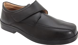 Roamers Mens XXX Extra Wide Touch Fastening Tramline Casual Shoes (9 UK) (Black)