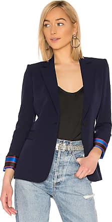 Alice & Olivia Macey Cuffed Blazer in Navy
