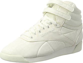 1131c4f5f42 Reebok Damen Freestyle Hi LUX TXT Hohe Sneaker Weiß Chalk