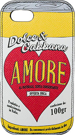 Dolce & Gabbana Capa para iPhone 7/8 de couro - Estampado