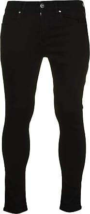 Firetrap Mens Super Skinny Jeans Pants Trousers Bottoms Zip Stretch Black 2 30 L30