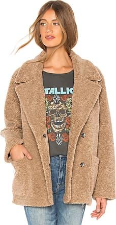Velvet Yoko Faux Sherpa Jacket in Tan