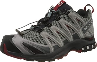Salomon Salomon Mens Trail Running Shoes, XA PRO 3D, Grey (Monument/Ebony/Red Dahlia Monument/Ebony/Red Dahlia), 10.5 UK (45 1/3 EU)