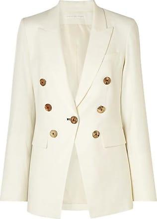 Veronica Beard Gaya Dickey Linen-blend Blazer - Ivory