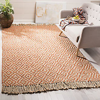 Safavieh Natural Fiber Collection NF266B Hand-Woven Orange and Natural Jute Area Rug (5 x 8)