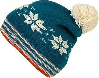 KuSan Wool Slouch Snowflake Bobble Beanie Hat (PK1703) (Teal)