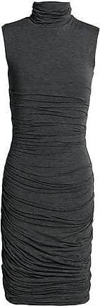 6cb2b12d15f Bailey 44 Bailey 44 Woman Ruched Mélange Stretch-jersey Turtleneck Dress  Anthracite Size XS