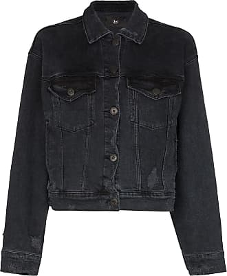 3x1 cropped denim jacket - Black