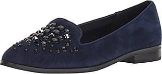 dc7ec6cc645 Anne Klein Womens Della Loafer Flat Navy Suede 5 M US