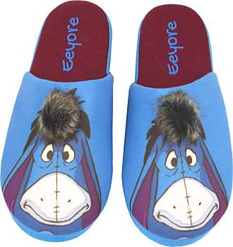 Disney Eeyore Partial 3D Fur Novelty Womens Blue Mule Slippers