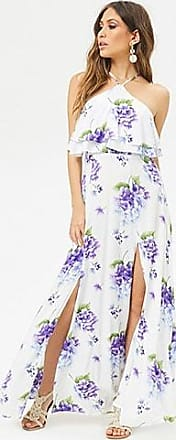 Forever 21 Forever 21 Floral Flounce Maxi Dress Ivory/purple