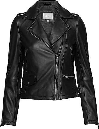 BLACK Leather jacket  Balmain  Skinnjakker - Herreklær er billig