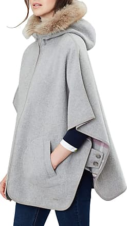Joules Everly Reversible Womens Cape Greycheck S