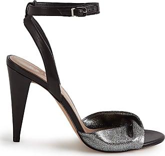 7121dcc368a4e2 Reiss Klaudia - Twist Front Open Toe Sandals in Black silver