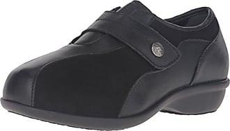 Propét Propet Womens Diana Strap Flat, Black, 9.5 4E US