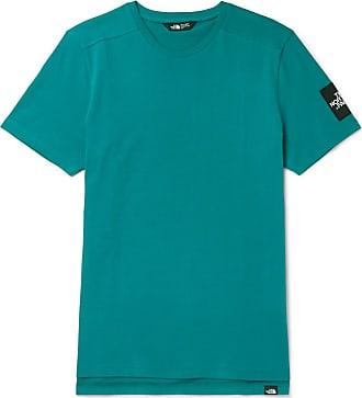 The North Face Logo-appliquéd Cotton-jersey T-shirt - Teal