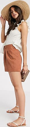 Y.A.S suede shorts in rust-Brown