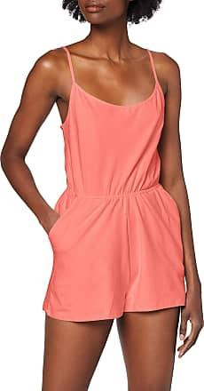Urban Classics Womens Ladies Short Spaghetti Jumpsuit, Pink (Coral 00092), S