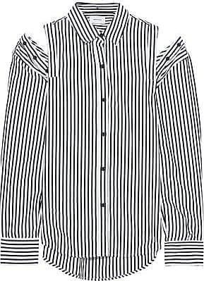 f876259d Current Elliott Current/elliott Woman The Loretta Cold-shoulder Striped  Cotton-poplin Shirt