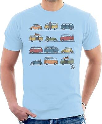Volkswagen Vans and Beetles Mens T-Shirt Sky Blue