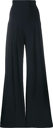 Norma Kamali high rise flared trousers - Azul