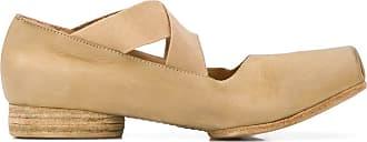 Uma Wang cross strap ballerinas - NEUTRALS