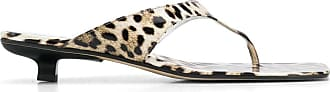 by FAR Sandália Jack com estampa de leopardo e salto 35mm - Neutro