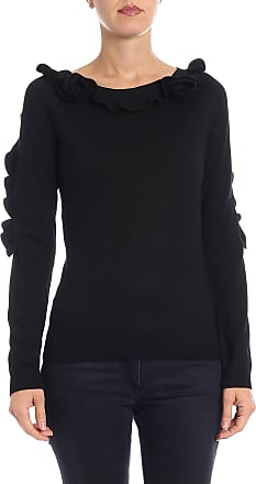 Philosophy di Lorenzo Serafini Black sweater with floral detail