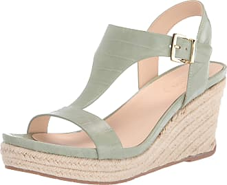 Kenneth Cole Reaction Womens Card Wedge T-Strap Espadrille Sandal Green Size: 5 m