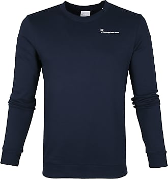 Knowledge Cotton Apparel Pullover Navy Logo