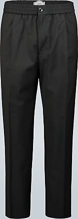 Ami Elasticated-waist cropped pants