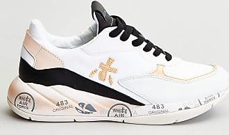 Reposi Calzature PREMIATA Sneakers in pelle e tessuto bianco, nero
