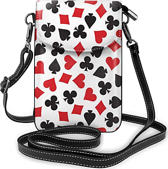 NA Cell Phone Purse Small Crossbody Playing Card Suit Casino Pattern Wallet Bags With Adjustable?Shoulder Strap Women
