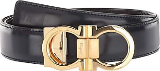 Salvatore Ferragamo Double Gancio Buckle Adjustable/Reversible Belt (678648) (Blue/Black) Mens Belts