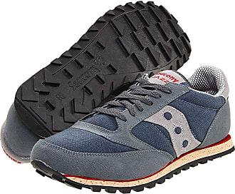 cheaper 49842 686e5 Saucony Originals Jazz Low Pro Vegan (Grey Red) Mens Classic Shoes