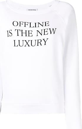 Quantum Courage print sweatshirt - White