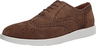 Driver Club USA Mens Leather Made in Brazil EVA Lightweight Oxford Wingtip, Tan Suede/White Sole, 5 UK