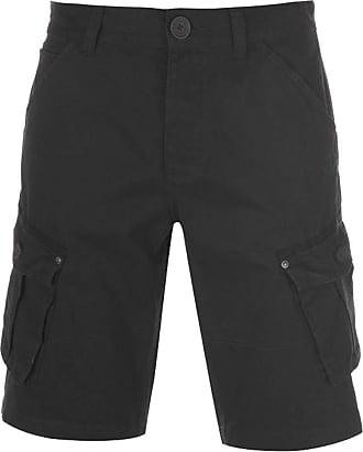 Firetrap Mens BTK Shorts Button Fly Closure (Washed Black, Extra Large)